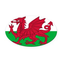 Wales.jpg Oval Car Magnet