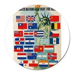 Original_United_Nations.jpg Round Car Magnet