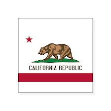 "California.jpg Square Sticker 3"" x 3"""