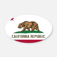 California.jpg Oval Car Magnet