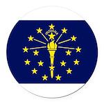 Indiana.jpg Round Car Magnet