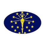 Indiana.jpg Oval Car Magnet