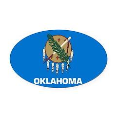 Oklahoma.jpg Oval Car Magnet