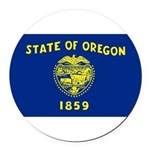 Oregon.jpg Round Car Magnet