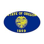 Oregon.jpg Oval Car Magnet