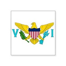 "U.S. Virgin Islands.jpg Square Sticker 3"" x 3"""