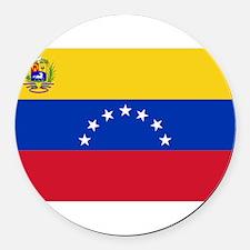 Venezuela.jpg Round Car Magnet
