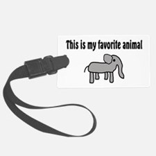 Cute Elephant Luggage Tag