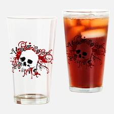 Unique Goth skull Drinking Glass