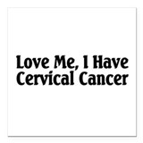 Cervical cancer stickers Square Car Magnets
