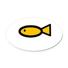 Cute Gold fish Oval Car Magnet