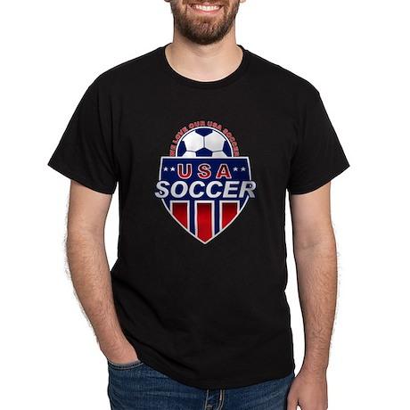 USA Soccer Black T-Shirt
