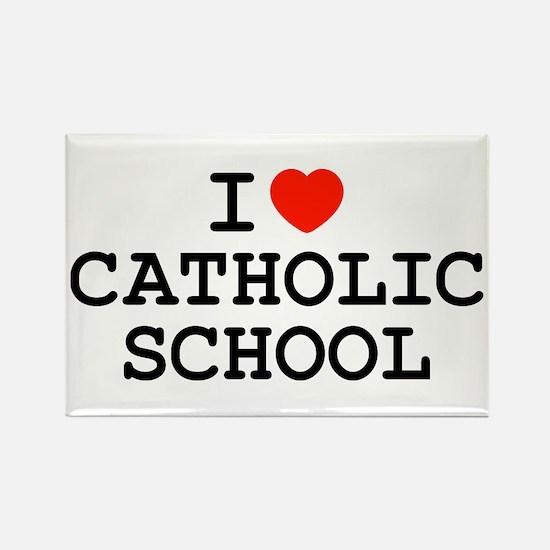 I Heart Catholic School Rectangle Magnet