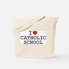 I Heart Catholic School Tote Bag