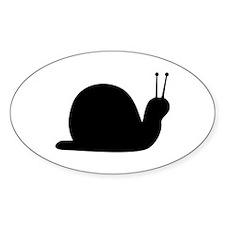 Snail Oval Sticker My Future Retro