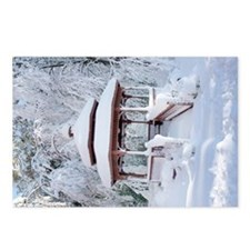 Gazebo surround by snow 11 Postcards (Package of 8