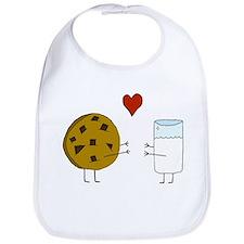 Cookie Loves Milk Bib