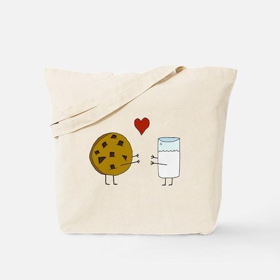 Cookie Loves Milk Tote Bag
