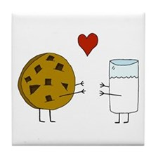 Cookie Loves Milk Tile Coaster
