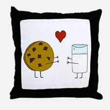 Cookie Loves Milk Throw Pillow