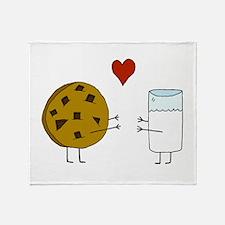 Cookie Loves Milk Throw Blanket