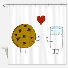 Cookie Loves Milk Shower Curtain