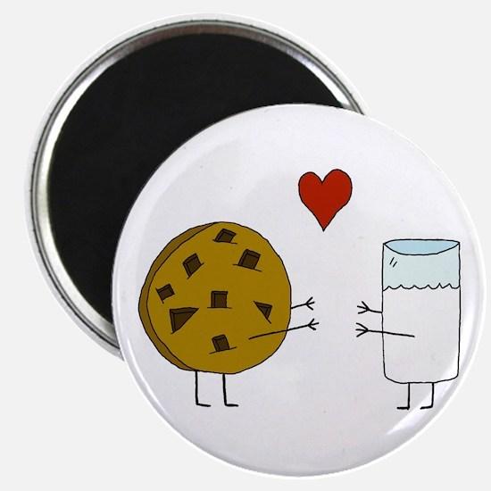 """Cookie Loves Milk 2.25"""" Magnet (100 pack)"""