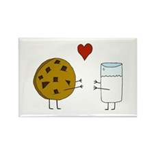 Cookie Loves Milk Rectangle Magnet