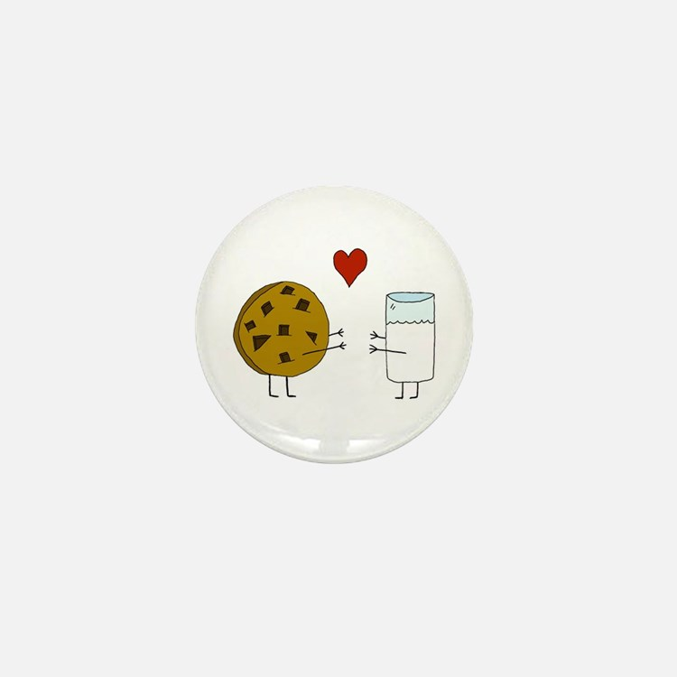 Cookie Loves Milk Mini Button