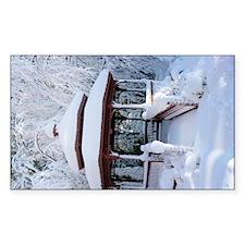 Gazebo surround by snow 10 Decal