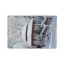 Gazebo surround by snow 8 Rectangle Magnet