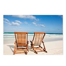 Beach chairs in the sand
