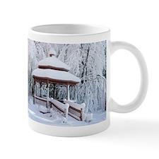 Gazebo surround by snow 9 Mug