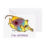 Funny cartoon fish Greeting Cards (Pk of 10)