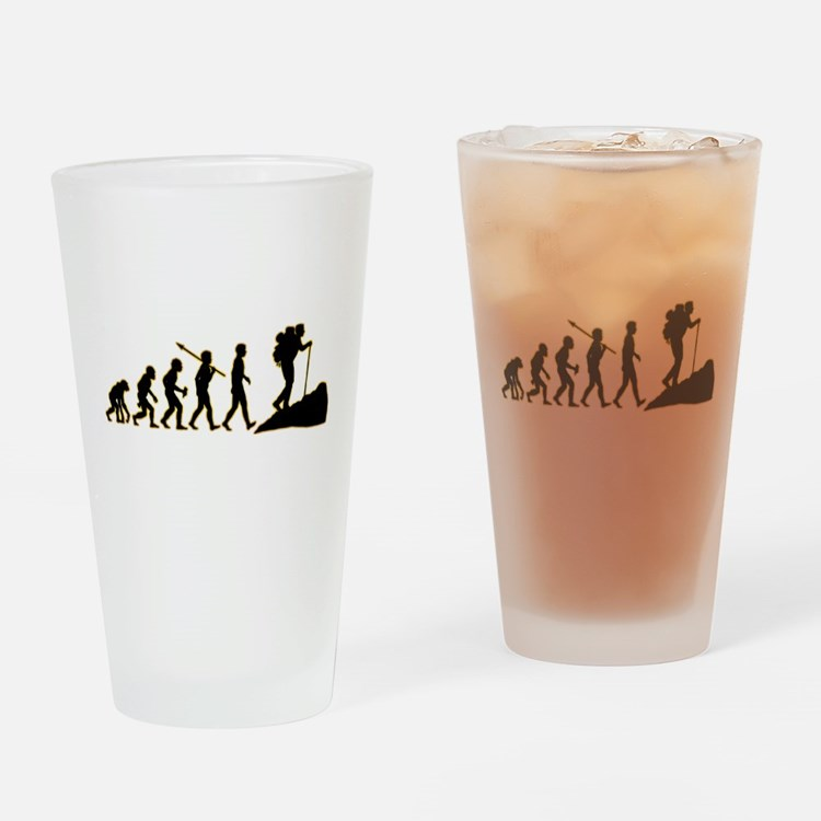 Hiking Drinking Glass