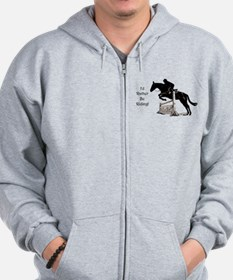 I'd Rather Be Riding Horse Zip Hoodie