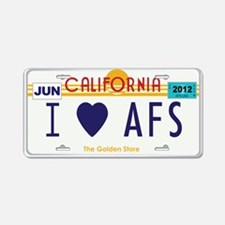 AFS CA license plate Aluminum License Plate