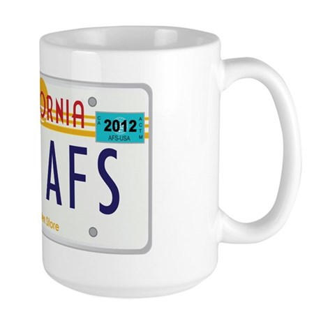 AFS CA license plate Large Mug