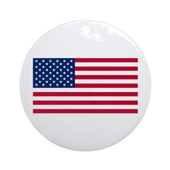 The United States Flag Shop Ornament (Round)