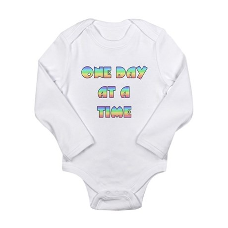 One Day At A Time Long Sleeve Infant Bodysuit
