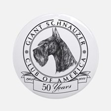 Giant Schnauzer Club of America Logo Ornament (Rou