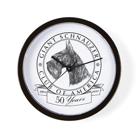 Giant Schnauzer Club Of America Logo Wall Clock By Gsca