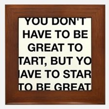 To Be Great Framed Tile