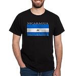 Nicaragua Nicaraguan Flag Black T-Shirt