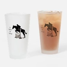 I'd Rather Be Riding Horse Drinking Glass