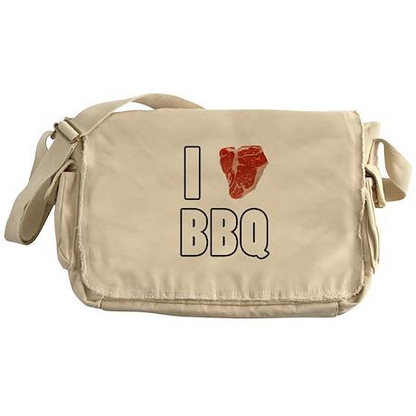 I Heart BBQ Messenger Bag