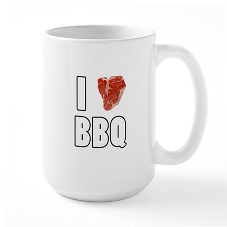 I Heart BBQ Large Mug