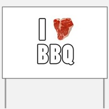 I Heart BBQ Yard Sign