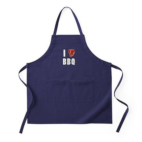 I Heart BBQ Apron (dark)