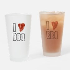 I Heart BBQ Drinking Glass